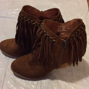 Not Rated fringe booties size 6.5